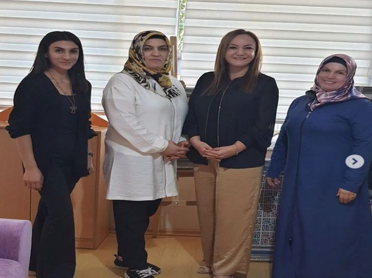 We met with dear Sevim Hanım, the General Manager of Adem, the station where women produce Manual Labor products in Mardin, and they welcomed us so beautifully with their local flavors and friendliness that they made themselves.