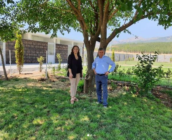 We met with Kemal Belpınar, Head of Nurdağı Chamber of Agriculture, at her place
