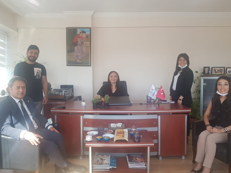 Gaziantep Deputy, Parliament's Chief of Administration Mr. Ali Şahin visited nlksoft.