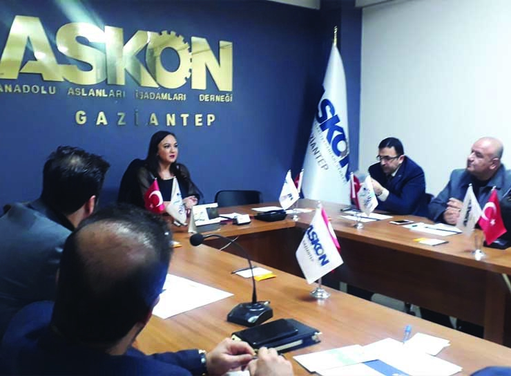 On January 21, 2020, at 18.30, Special 'E-Commerce and E-Export' Training was given to the Members of the Askon Anatolian Lions Businessmen Association Gaziantep Branch with the participation of our Chairman of the Board, Nalan KURT.