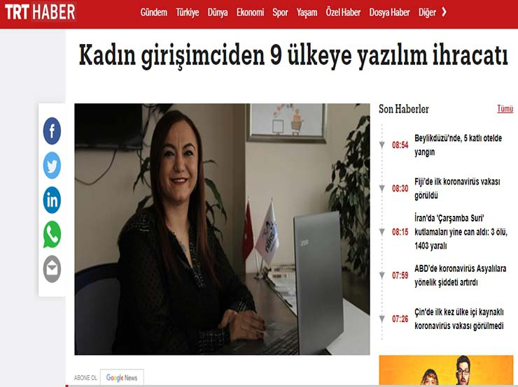Software export from a woman entrepreneur - Trt Haber