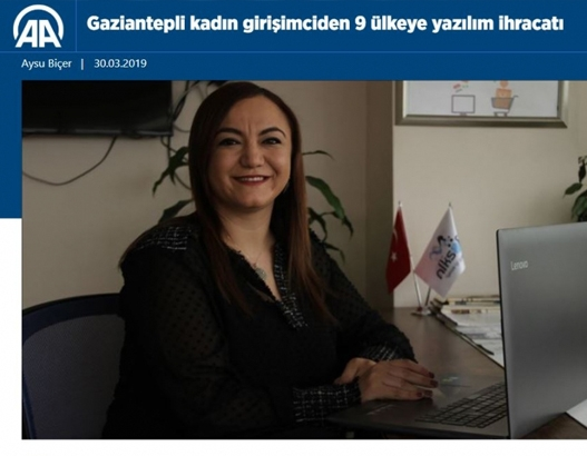 Software Exports from Gaziantep Woman Entrepreneur to 9 Countries