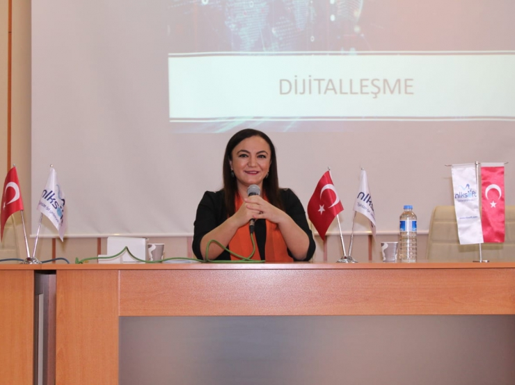 """Our Chairman of the Board of Directors, Nalan Kurt, took part in his career days with his speech titled """"Entrepreneurship and Digitalization""""."""