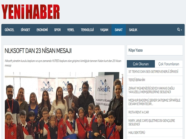 April 23 Message from Nlksoft - Yeni Haber