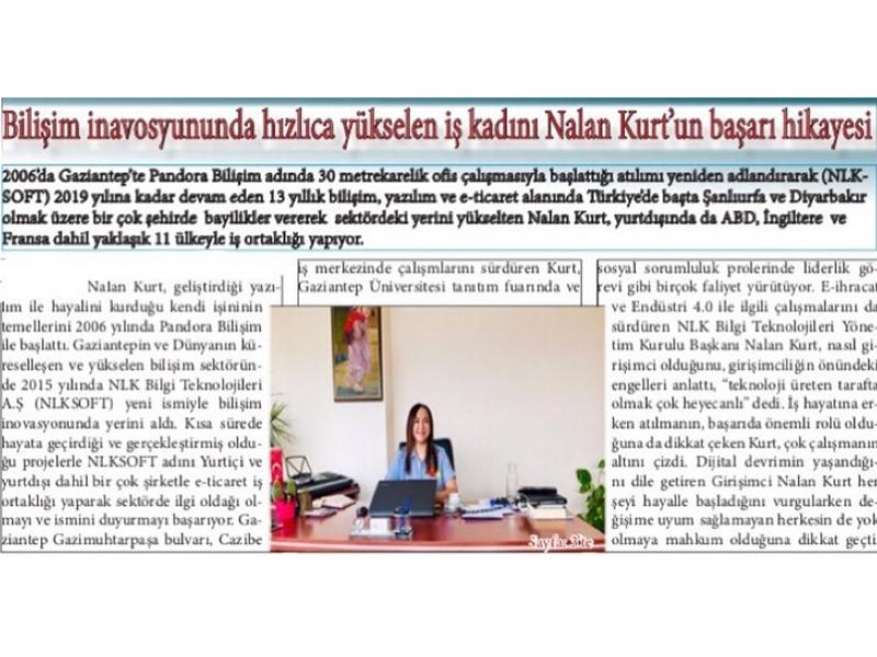 Nalan Kurt Success Story - Mercek Newspaper