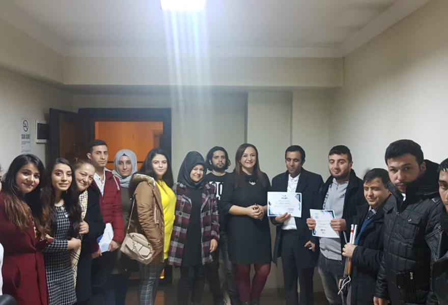 7. We Organized Our E-Commerce Training with Gaziantep Blind Development and Education Association