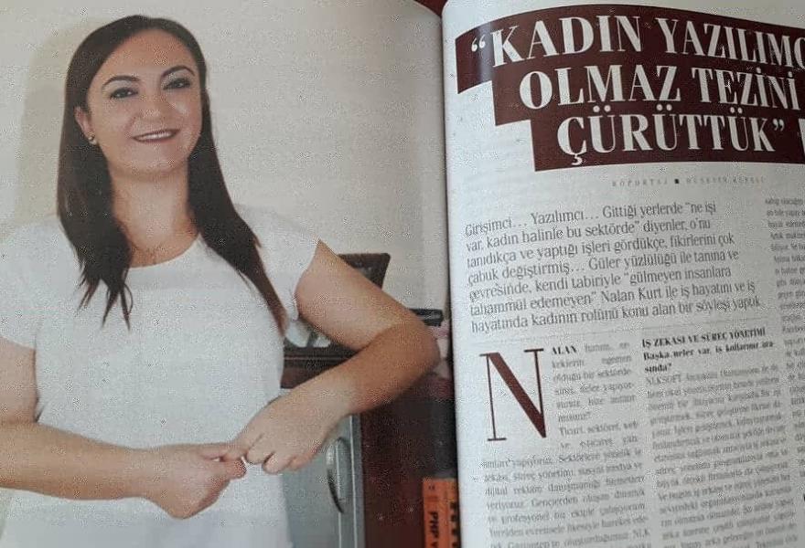 Nalan KURT refuted her thesis that Women cannot be a software developer.